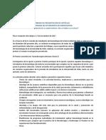 Normas trabajos IV Jornada de estudiantes de Kinesiología UChile