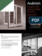 Gliding Patio Door Care