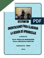 170803932 Orientaciones Para Elaborar La Sesion de Aprendizaje Rode y Diana PDF