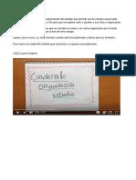 Cuadernillo de Organización Del Estudio