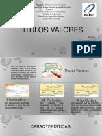 Títulos Valores - Landaeta Luis