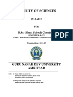 Bsc Hs Chemistry Semester i to Vi Cbcegs