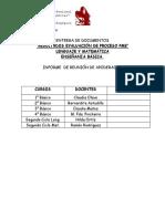 Entrega de Documentos Evaluación Proceso