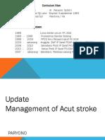 Acute Stroke Management Gimsco 2015 ( Dr, Paryono Sp.s (k))