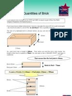 Brickwork Calculating Quantities of Brick