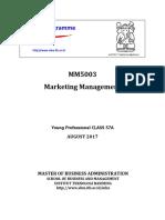 Syllabus MM5003 Marketing Management_57A