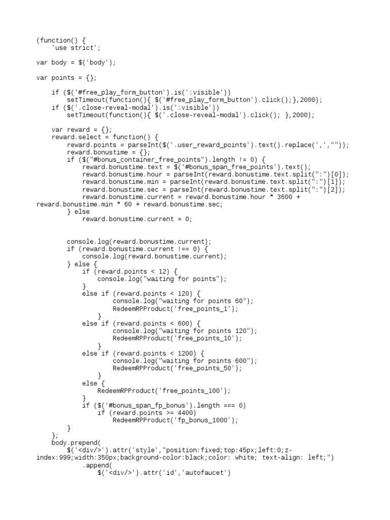 freebitco in 10000roll script txt