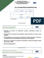 Tema I.1 Introducción a los Procesos de Manufactura