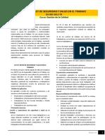 Lectura Reglamento de La Ley de Seguridad y Salud en El Trabajo