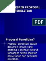 Mendesain Proposal Penelitian