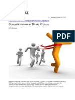 Competitiveness of Dhaka City Part 2