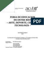 Documento Marco 2017 - Feria de Educación (...)
