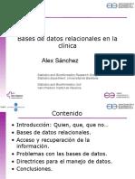 Bases de Datos Relacionales en La Clinica