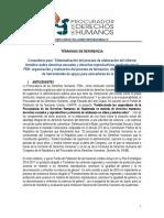 TDRs Sistematizacin y Capacitacin