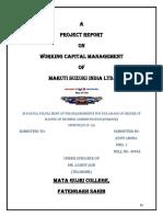 Working Capital Management ( Aditi)