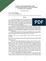 Pengaruh Tingkat Pemahaman Nilai-Nilai Islam terhadap Perilaku Bisnis Pedagang dalam menghadapi Persaingan Usaha
