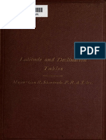 Latitude and Declination Tables 1869