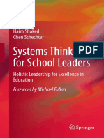 Haim Shaked, Chen Schechter Auth. Systems Thinking for School Leaders Holistic Leadership for Excellence in Education