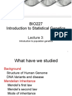 Lecture 3 - Population Genetics-1