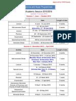 Academic Sessions 2015-2016