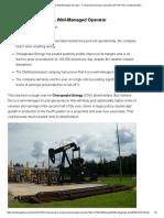 Chesapeake Energy_ a Well-Managed Operator - Chesapeake Energy Corporation (NYSE_CHK) _ Seeking Alpha