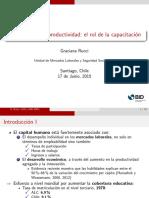 Empleabilidad y Productividad- El Rol de La Capacitación.