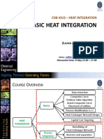 CDB 4313 Heat Integration - Basic Heat Integration