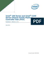 100 Series Chipset Datasheet Vol 1
