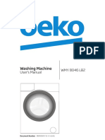 Beko WMY8046LB2 Washing Machine User Manual