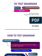 how to test grammar