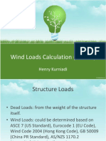 wind loads calculation