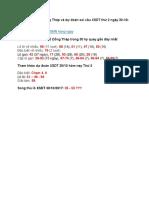 Thống kê kết quả xổ số Đồng Tháp 30/10/2017 - Soi cầu XSDT