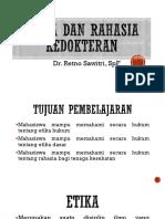Etika Dan Rahasia Kedokteran
