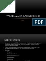 Talar Avascular Necrosis