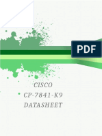 Cisco CP-7841-K9 Datasheet