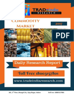 Daily Commodity Prediction Report by TradeIndia Research 30-10-2017
