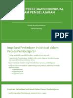 Perbedaan Individual Psikologi Pendidikan