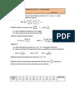 Exámen Matemáticas 1º Bachiller