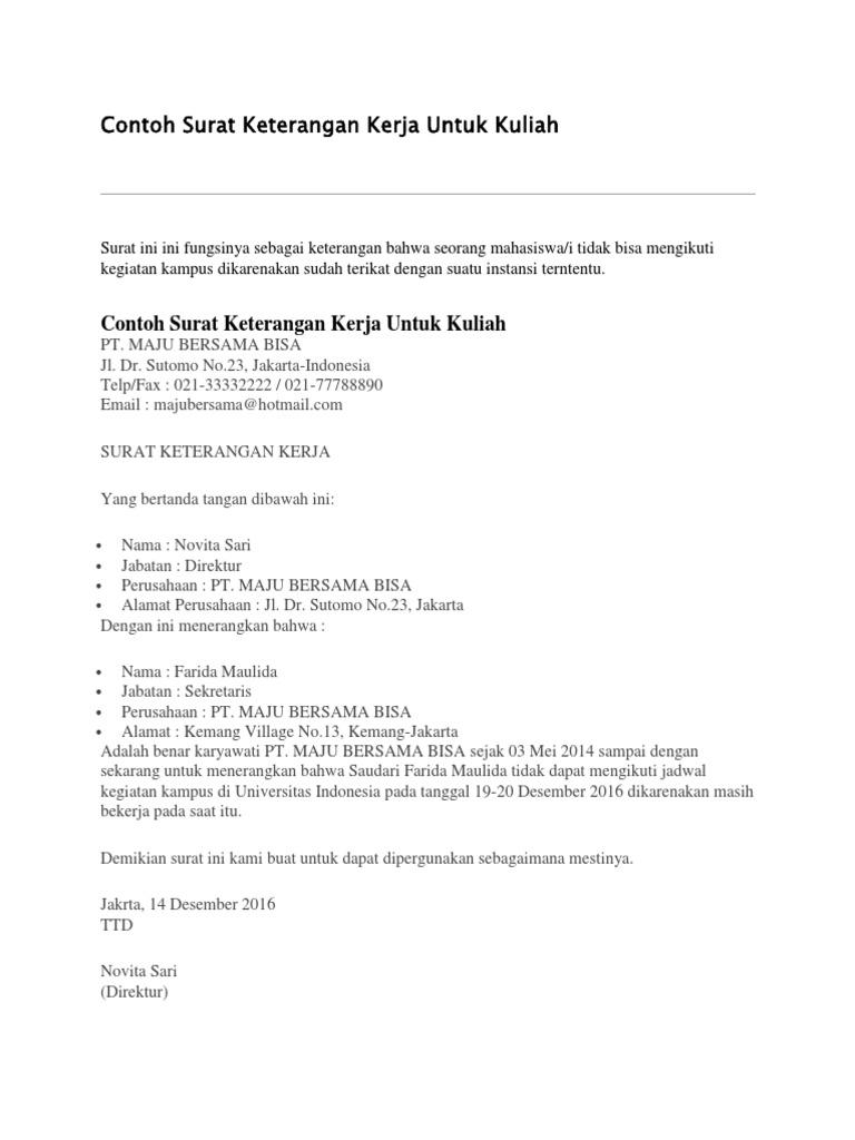 Contoh Surat Pernyataan Mengikuti Kegiatan Simak Gambar