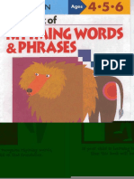 Ages 4-5-6 My Book of Rhyming Words and Phrases