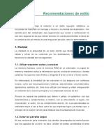 Recomendaciones de Estilo en Lenguaje Administrativo