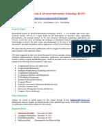 International Journal of Advanced Information Technology IJAIT