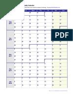 School Calendar 2017 2018 Large Blank