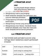 Topik 4.4 Struktur Ayat Bahasa Kebangsaan