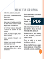 Tareas y Funciones Del Tutor de E-learning