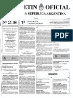 Boletín Oficial Nº 27104, Ley