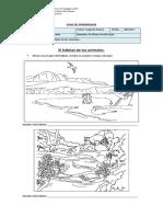 Guia de Ciencias Naturales, habitats de los animales, segundo basico..docx
