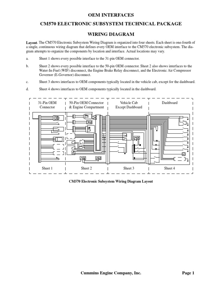 [FPER_4992]  ISX Wiring | Relay | Switch | Cummins Isx Wiring Diagram |  | Scribd