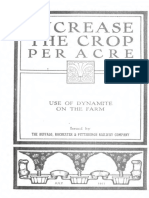Intensive Farming and Use of Dynamite 1911