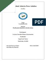 Tarea III de Gestion y Planificacion Aulica.